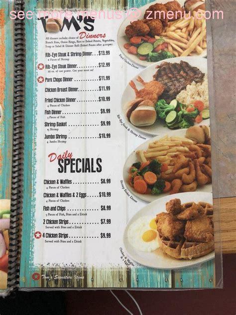 menu  toms famous family restaurant restaurant