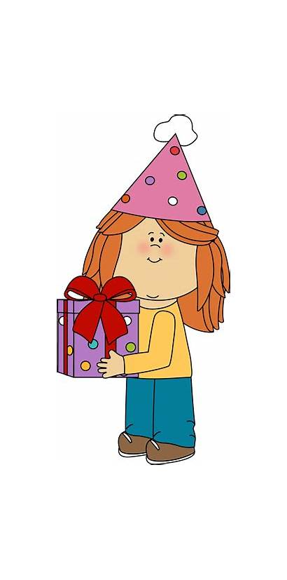 Birthday Clipart Gift Clip Happy Party Woman