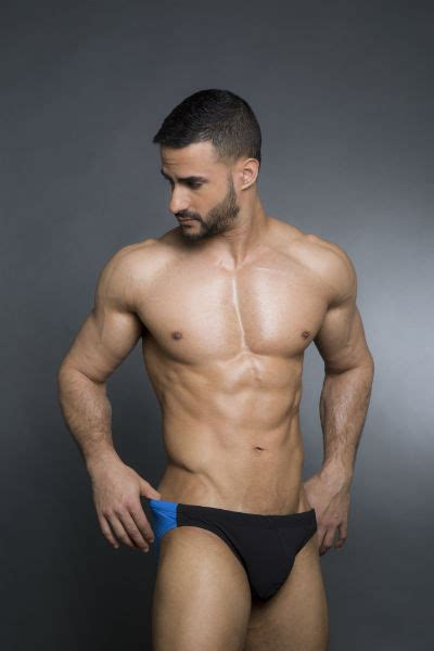 man bikini men bikini swim briefs with royal blue back egick