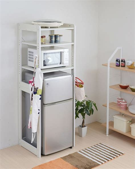 Rack refrigerator top rack kitchen shelves ? range stand