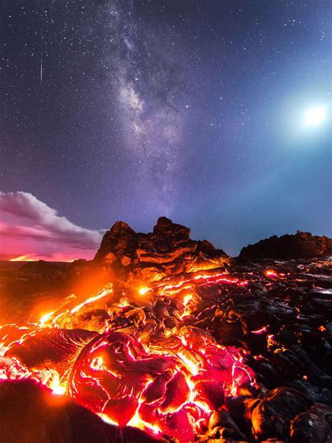 Photographer Captures Moon Meteor Lava The Milky Way