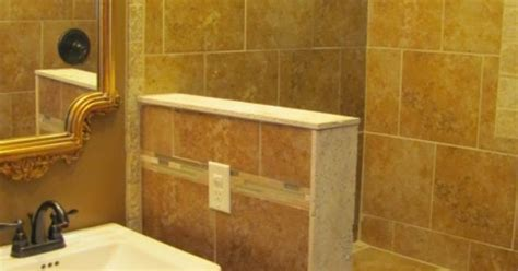 small knee wall wrapped  tile  stone  support