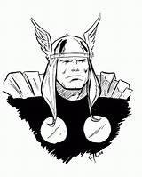 Coloring Thor Pages Daredevil Comments Coloringhome sketch template