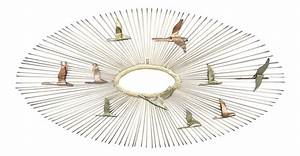 vintage curtis jere metal sunburst birds wall sculpture With kitchen cabinet trends 2018 combined with c jere metal wall art