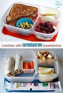 Packed Lunch Ideas With Carb Counts On Each One