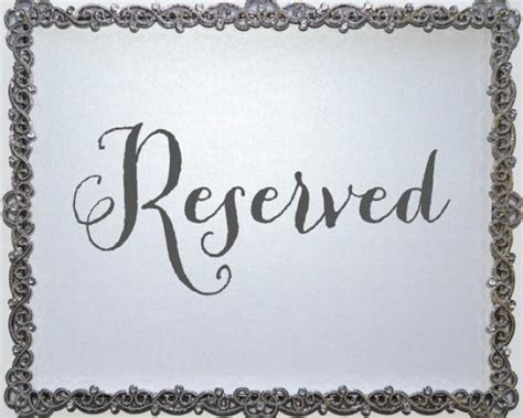 reserved sign reserved seating sign wedding signage for wedding reception reserved sign seating signage