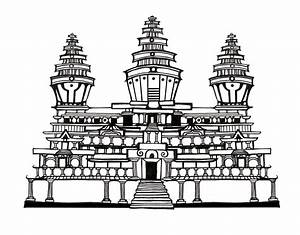 buddhist temple drawing - Google Search | Hindu ...