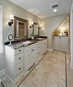 white bathroom vanity cabinet with granite top and mirror With kitchen cabinet trends 2018 combined with mirror frame wall art