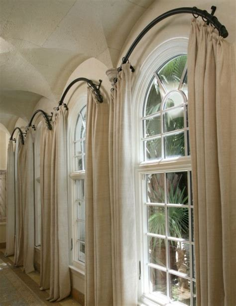 25 best ideas about arched window curtains on