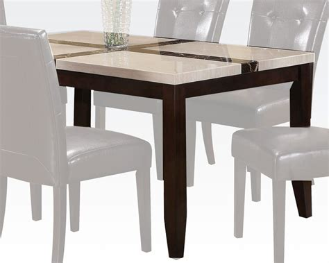 white faux marble top dining acme white faux marble top dining table justin ac16550