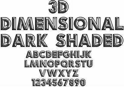 3d Shaded Font Fonts Lettering Typography Alphabet