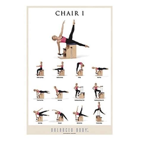 balanced chair i exercise poster healthy food
