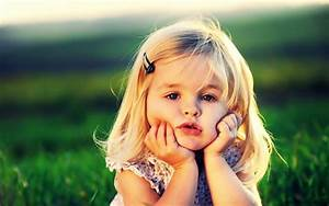 cute, little, baby, girl, thinking, adorable » AdorableTab.com