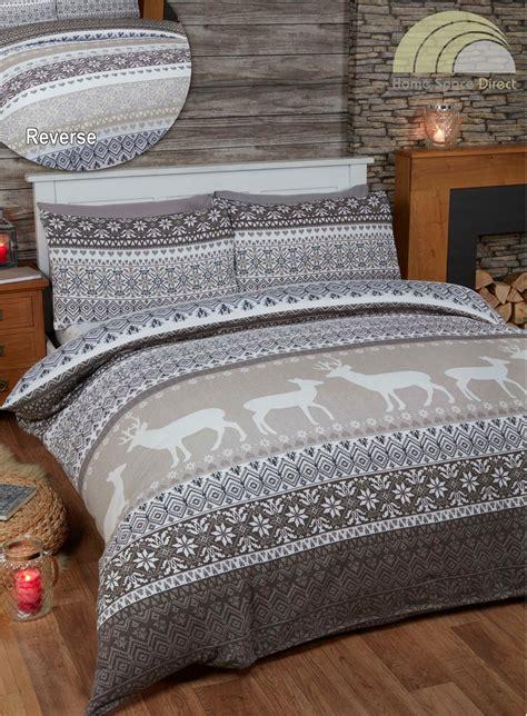 100% Cotton Flannelette Quilt Duvet Cover Bedding Bed Sets