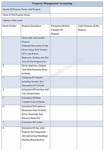 Property management accounting form for Property management documents forms