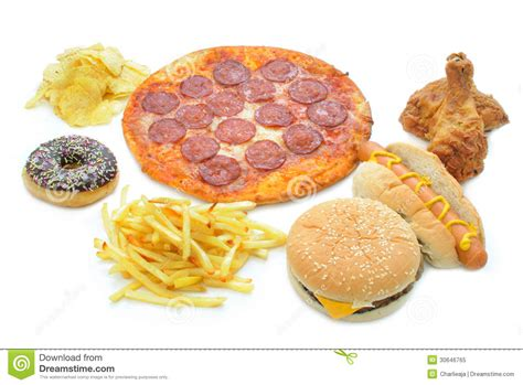 Fast Food Collection Royalty Free Stock Photo   Image: 30646765