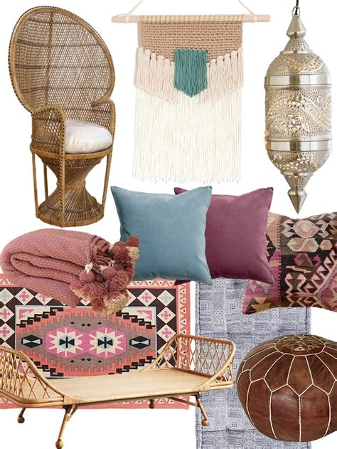 create   artful bohemian living room shopping