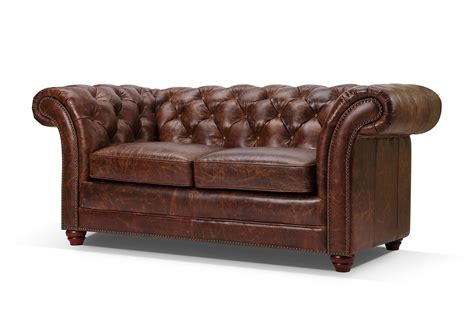 items canape canapé chesterfield en cuir westminster 2 places