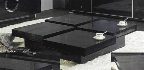 black contemporary coffee table modern crocodile black coffee table 8879a black design co