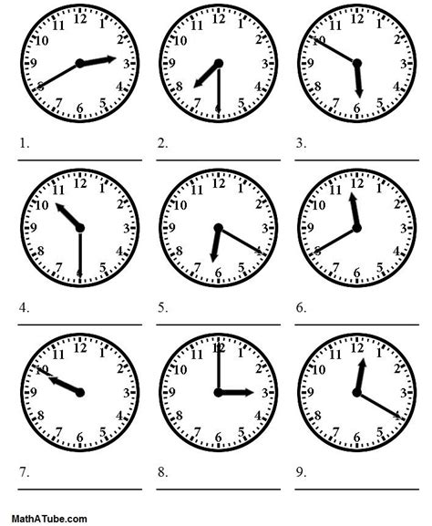 whats the time worksheet exercises