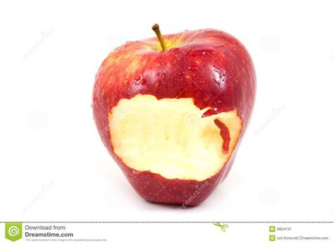 Apple with a bite stock image. Image of nature, healthy ...