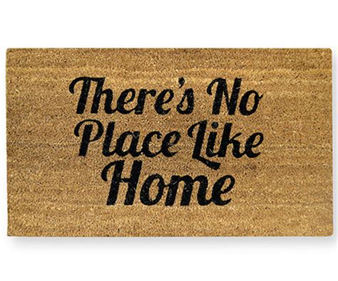 theres no place like home doormat there s no place like home vinyl backed doormat
