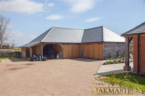 L Shaped Oak Outbuilding Complex In Sussex Oakmasters