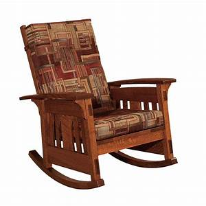 Mccoy, Mission, Upholstered, Rocking, Chair, From, Dutchcrafters, Amish