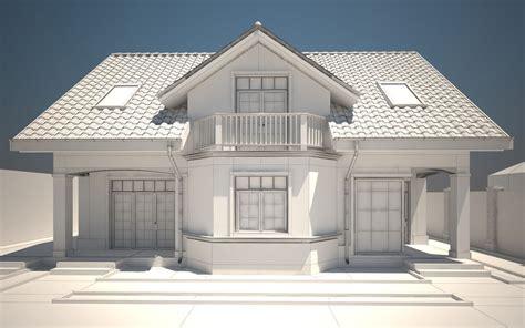 house exterior 3d model max obj 3ds dwg mtl tga cgtrader