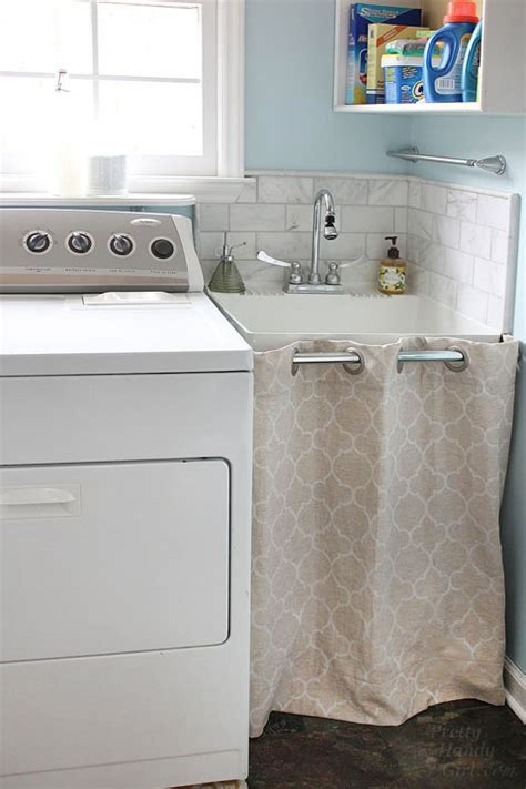 utility sink skirt pattern storage a laundry room sink