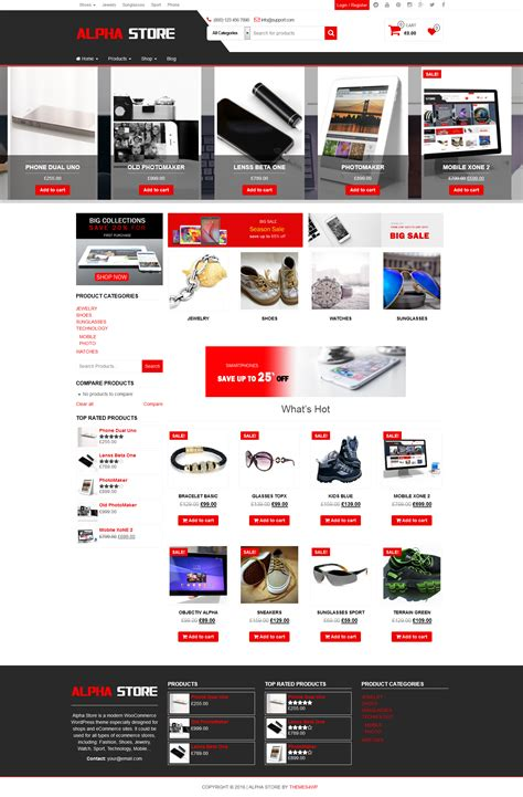 Woocommerce Themes Woocommerce Theme For Alpha Store Free