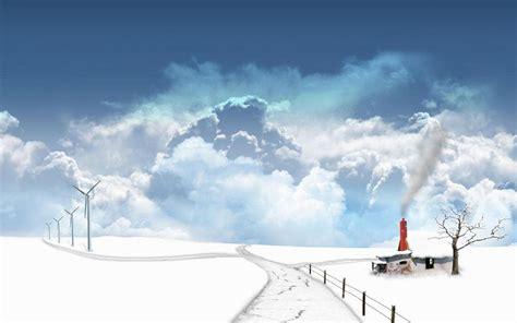 Anime Winter Scenery Wallpaper - anime winter scenery wallpaper wallpaperhdc