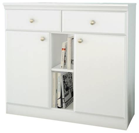 South Shore Storage Cabinet White by South Shore Storage Console In White