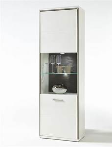 Wohnzimmer Vitrine Weiß Hochglanz : vitrine travis 4 wei hochglanz 64x201x38 cm glasvitrine ~ Lateststills.com Haus und Dekorationen