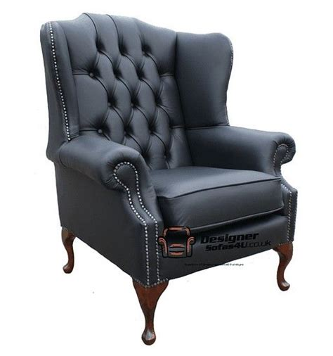 High Back Recliner Armchair by Chesterfield Mallory Flat Wing High Back Wing