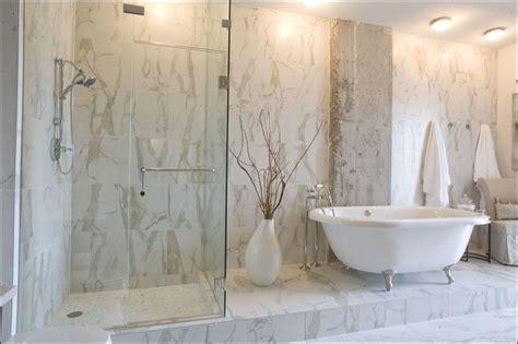 Ceramic Tile Bathroom Ideas Calacatta Porcelain Tile Contemporary Bathroom Nashville By Mission Tile