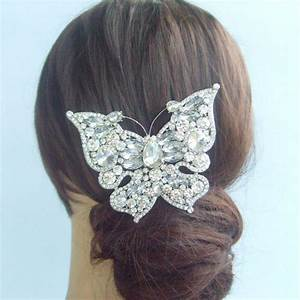 2017 394bridal Butterfly Hair Comb Wedding W Clear