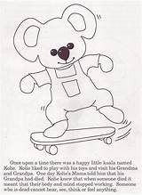 Kolie Funeral Coloring Skateandannoy Koala sketch template