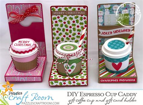 A stylish and repurposed diy coffee table is definitely the trend at the moment, with more and more people wanting individuality within a budget. DIY Espresso Cup Caddy Gift with SVG download   Espresso cups, Diy gifts, Gift card holder
