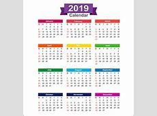 2018 calendar week start sunday Royalty Free Vector Image