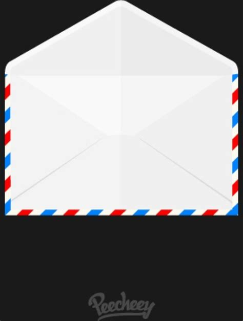 opened airmail envelope icon  vector  adobe