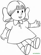 Coloring Pages Dolls Doll Printable sketch template
