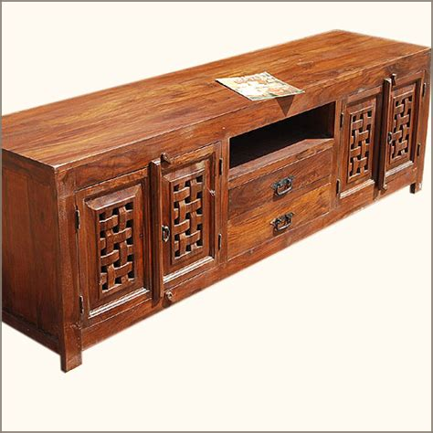 solid wood tv table solid wood traditional rustic media console tv stand