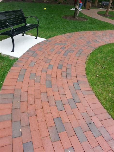 brick walkway patterns custom stoneworks design inc clay brick walkways