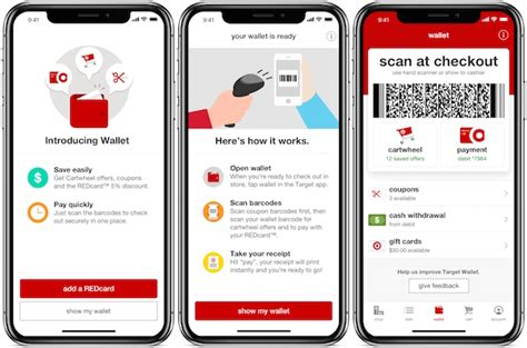 target iphone promotion target launches mobile wallet in its iphone app 13083