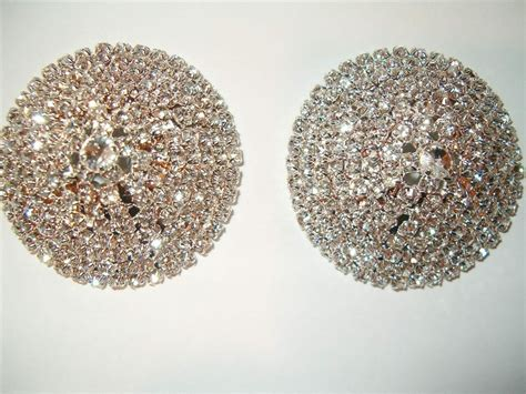 Sexy Rhinestone Reuseable Nipple Pasties Pick Your Style 3
