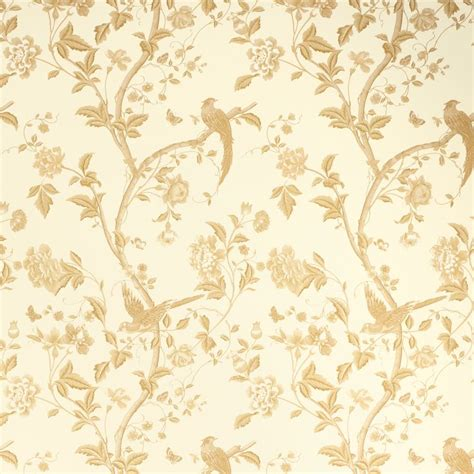 laura ashley summer palace gold floral wallpaper eye