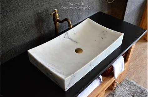 Steinwaschbecken Mit Tisch by 700mm White Marble Bathroom Vessel Sink Toji White