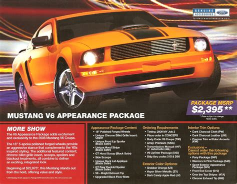 appearance package  mach   mustang