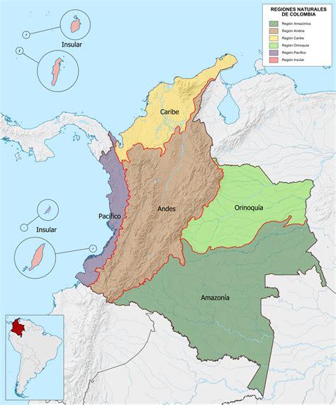 Regiones naturales de Colombia Wikipedia la enciclopedia libre